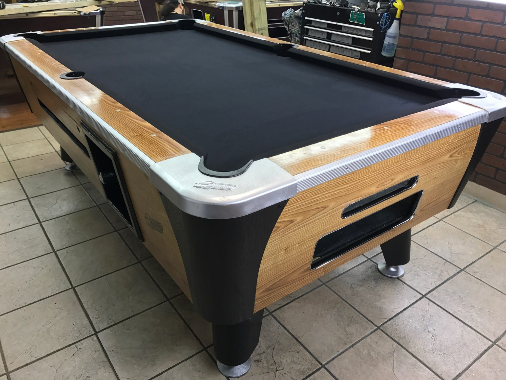 table 042117 dynamo used coin operated pool table used coin rh barpooltables net dynamo pool table bumpers dynamo pool table key