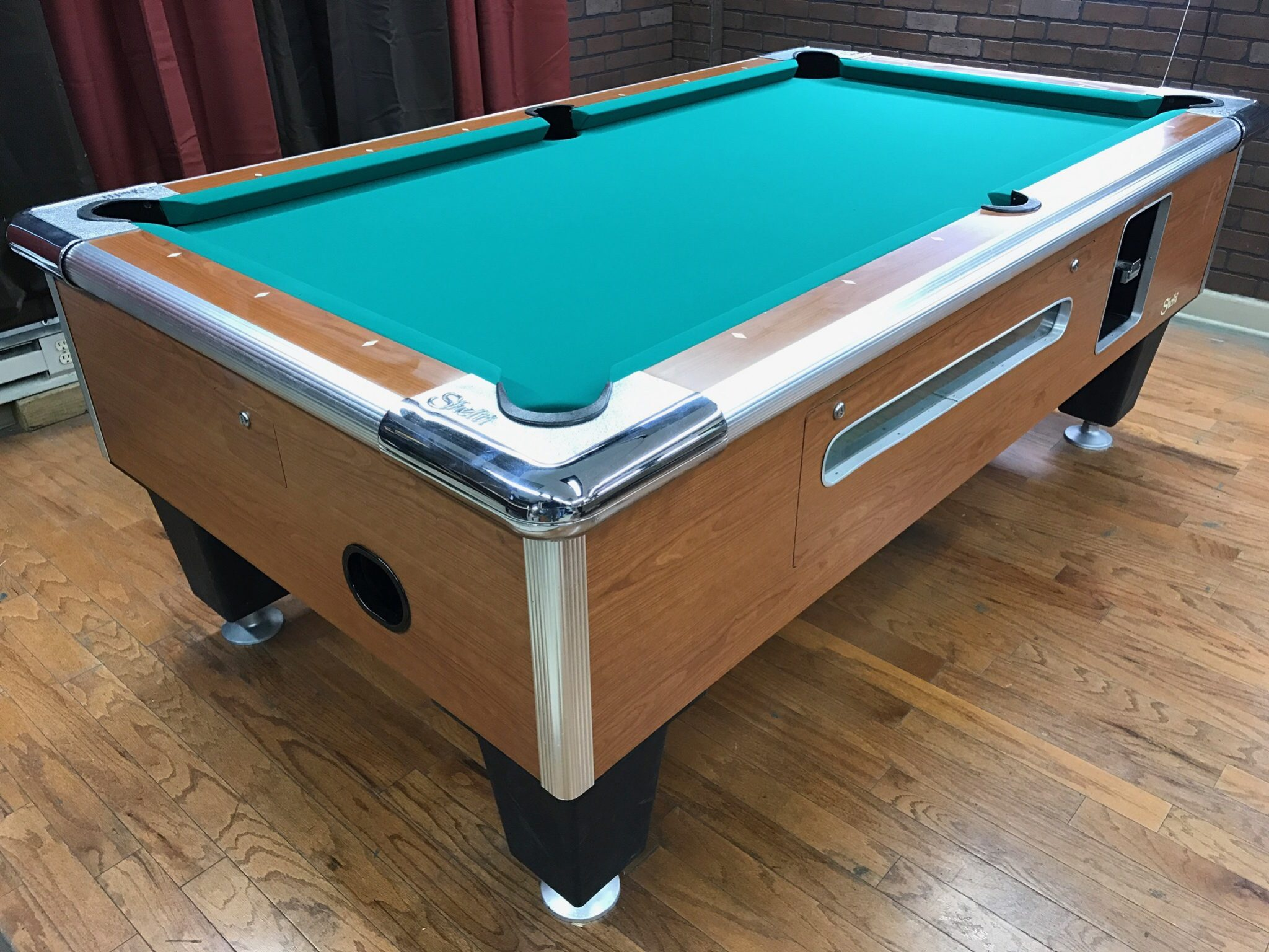 table 0412117 shelti used coin operated pool table used coin rh barpooltables net coin operated pool tables uk coin operated pool tables for rent